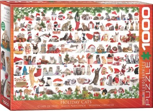 Eurographics: Holiday Cats (1000) kerstpuzzel