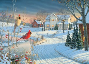 Eurographics: Country Cardinals (1000) winterpuzzel