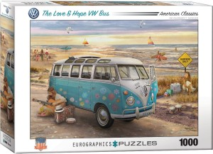 Eurographics: In love and Hope VW Bus (1000) autopuzzel