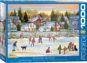 Eurographics: Evening Skating (1000) winterpuzzel