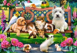 Castorland: Pets in the Park (1000) legpuzzel