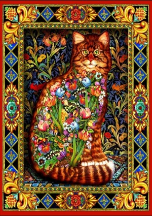 Bluebird: Tapestry Cat (1500) kattenpuzzel