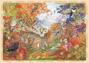 falcon autumn hedgerow 500 stukjes legpuzzel herfstpuzzel