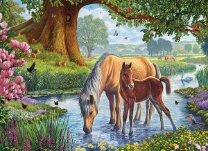Eurographics: The Fell Ponies (1000) paardenpuzzel