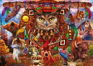 Bluebird: Animal Totem (4000) grote legpuzzel