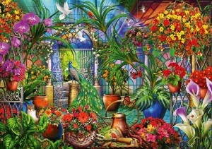 Bluebird: Tropical Green House (1000) legpuzzel