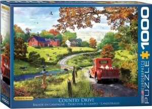 Eurographics: Dominic Davison - The Country Drive (1000) puzzel