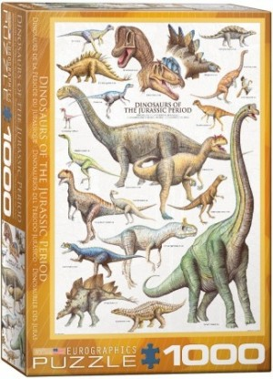 Eurographics: Dinosaurs of the Jurassic Period (1000) rechte puzzel