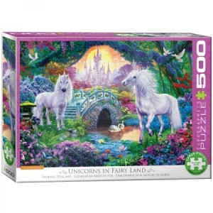 Eurographics: Unicorns in Fairy Land (500XL) eenhoornpuzzel