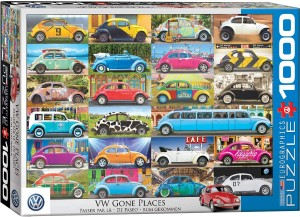 Eurographics: VW Gone Places (1000) volkswagen puzzel