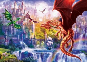 Eurographics: Dragon Kingdom (500XL) fantasy puzzel
