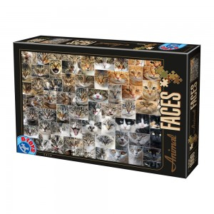 D-Toys: Animal Faces - Cats (1000) legpuzzel