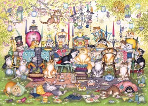 gibsons mad catter's tea party legpuzzel