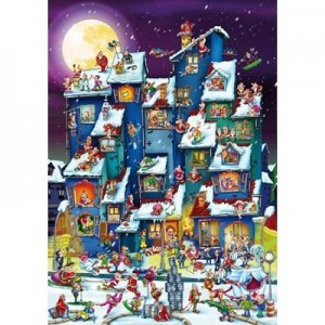 D-Toys: Christmas Mess (1000) cartoon kerstpuzzel
