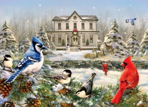 Cobble Hill: Country House Birds (1000) winterpuzzel
