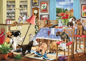 Otter House: Dogs in the Dining Room (1000) legpuzzel