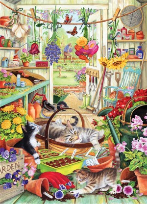 Otter House: Allotment Kittens (1000) verticale puzzel