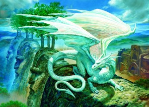 Cobble Hill: White Dragon (500XL) drakenpuzzel