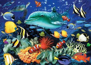Otter House: Coral Reef (1000) legpuzzel