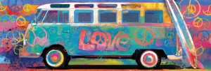 Eurographics: Love Bus (1000) panorama puzzel