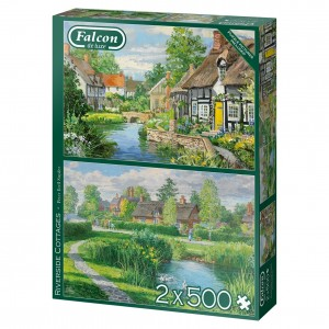 Falcon: Riverside Cottages (2x500) legpuzzels