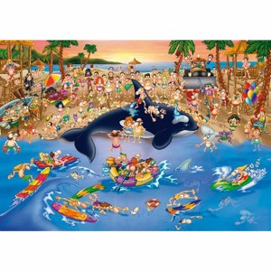 D-Toys: Traffic Jam on the Beach (1000) cartoon puzzel