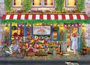 Eurographics: Plush Petals Flower Shop (1000) legpuzzel