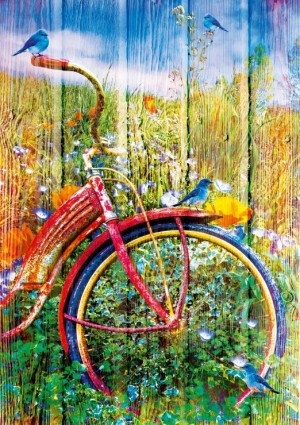 Bluebird: Bluebirds on a Bicycle (1000) verticale puzzel