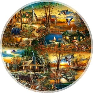 SunsOut: Cabins in the Woods (1000) ronde puzzel