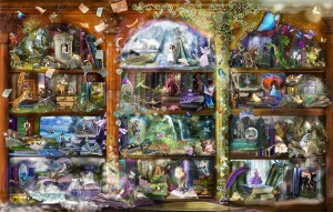 SunsOut: Enchanted Fairy Tale Library (1000) fantasypuzzel