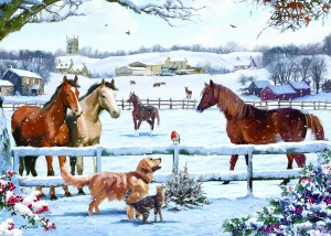 Otter House: Christmas on the Farm (1000) kerstpuzzel