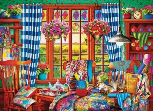 Eurographics: Patchwork Craft Room (1000) legpuzzel
