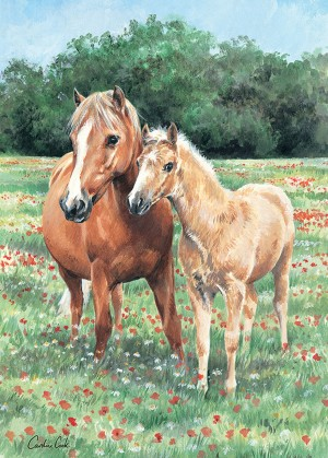 Otter House: Mother and Foal (1000) paardenpuzzel