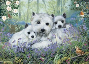 Otter House: Westies in the Wood (1000) hondenpuzzel