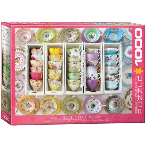 Eurographics: Colorful Tea Cups (1000) legpuzzel