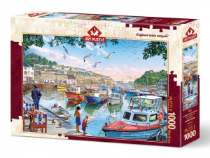 Art Puzzle: The Little Fisherman at the Harbour (1000) puzzel