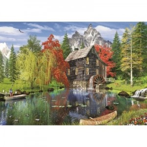 Art Puzzle: Fishing by the Mill (1500) legpuzzel