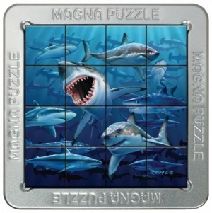 Gigamic: Magna Puzzle - Sharks (16) 3d legpuzzel