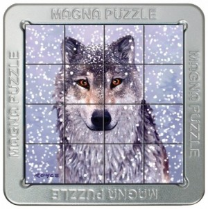 Gigamic: Magne Puzzle - Snow Wolf (16) 3d legpuzzel