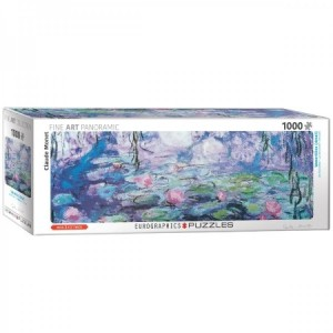 Eurographics: Water Lilies - Claude Monet (1000) panorama puzzel