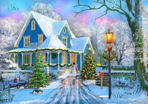 Bluebird: Christmas at Home (1000) kerstpuzzel