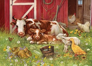 Cobble Hill: Barnyard Babies (350XL) Family puzzel