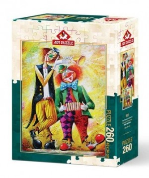 Art Puzzle: The Musician Clowns (260XL) verticale puzzel