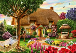 Bluebird: Thatched Cottage - Adrian Chesterman (1000) puzzel