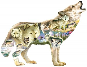 SunsOut: Meadow Wolf (750XL) shaped puzzel