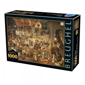 D-Toys: Pieter Brueghel - The Fight between Carnival and Lent (1000) kunstpuzzel