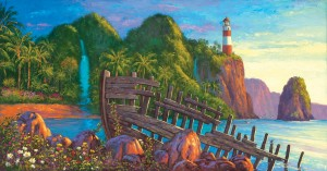 SunsOut: Paradise Cove (500) panorama puzzel