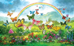 SunsOut: Butterfly Holiday (550) panorama puzzel