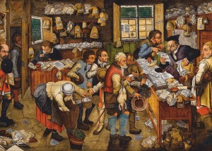 D-Toys: Pieter Breughel - The payment of the Tithes (1000) kunstpuzzel