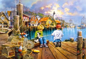 Castorland: At the Dock (1000) legpuzzel